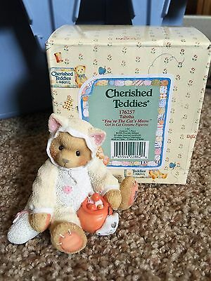 Cherished Teddies Halloween Figure 1996 Tabitha 176257 Mint Rare