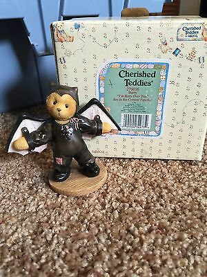Cherished Teddies Halloween Figure 1997 Barry Bat 270016 Mint Rare