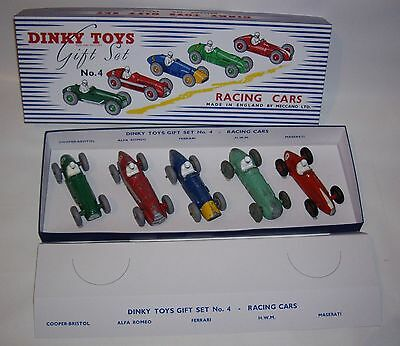Dinky Toys Gift Set GS 4 Racing Cars alle Fahrzeuge original in Box