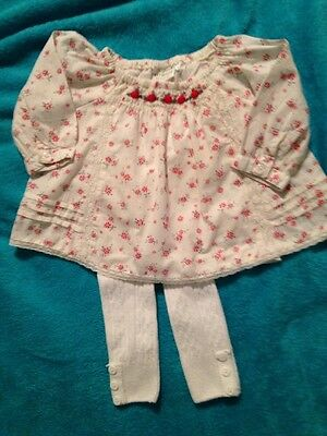Baby Girl Outfit Next Top Tu Leggings Age 0-3 Months