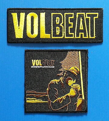 2 Lot VOLBEAT DANISH METAL BAND Embrodered Iron Or Sewn On Patches Free Ship