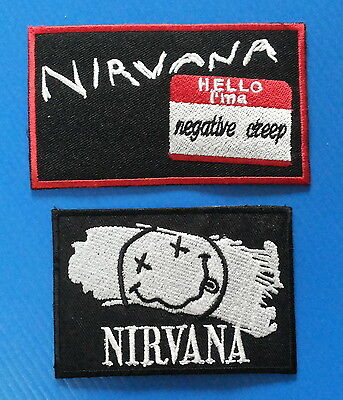 2 NIRVANA  NEGATIVE CREEP 4 & 3. Inch Iron Or Sewn On Patches Free Ship
