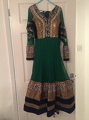 Beautiful Indian Anarkali Suit -Gown - dress Size Xs/6- Wedding. Brand New £250