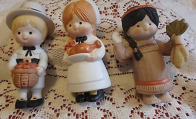 Enesco- Country Cousins- Thanksgiving- lot of 3