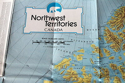 Northwest Territories, Canada Official Explorer's Map / Highway System 1981