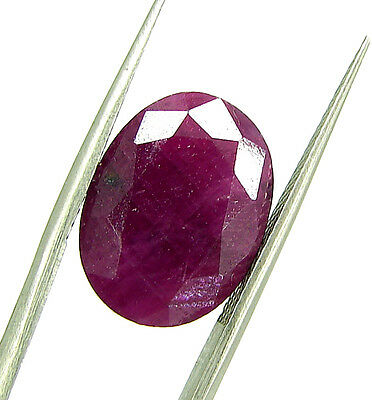 10.05 Ct Certified Natural Ruby Untreated Loose Oval Gemstone Stone - 113089