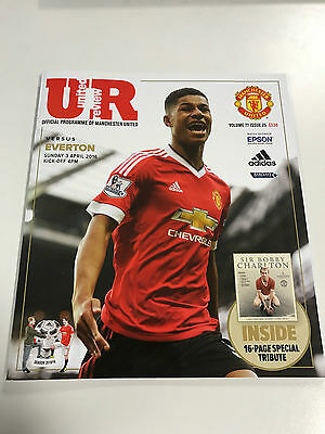 United Review - Manchester United V Everton programme 2016 Marcus Rashford