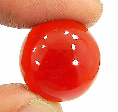 25.25 Ct Natural Orange Carnelian Loose Gemstone Cabochon Stone - 10929