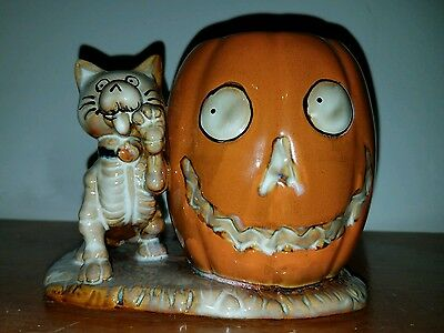 Yankee Candle brand Halloween cat candle holder Boney Bunch NEW