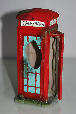 Aquarium Large Old London Telephone Box 9x7.5x17 cms Suitable For All Aquariums