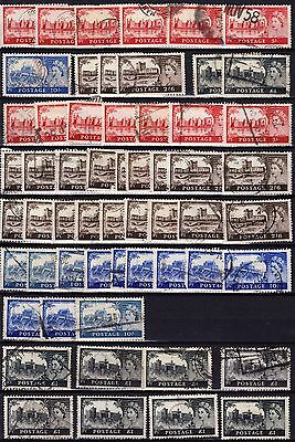 UK 1955 , lot castle, first 2 rows 1955, rest later or WM not showing