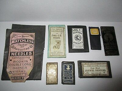 8 Vintage Needle Packets