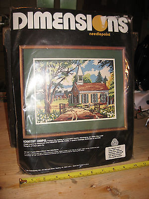 "Vintage Dimensions Needlepoint Embroidery Kit, ""country Chapel"""