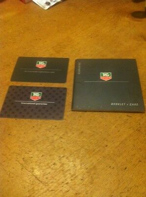 Tag Heuer Booklet & Cards