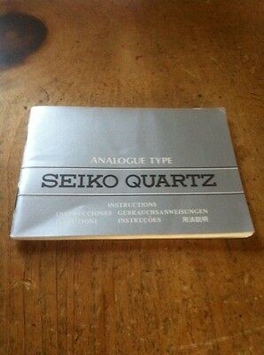 Vintage Seiko Quartz Booklet - Instructions Watch