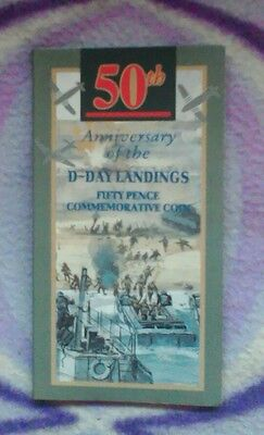 1994 Royal Mint 50p coin pack, D Day landings anniversary