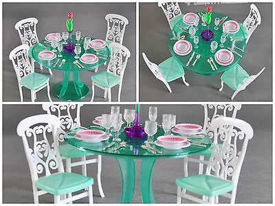 gloria Barbie Size Dollhouse Furniture Dining Room Green