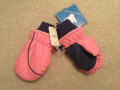 Girls pink Thinsulate mittens / gloves from Next size 6 - 9 - 12 months BNWT
