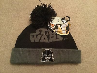 Boys Star Wars bobble hat from Next in grey size 3 - 4 years BNWT