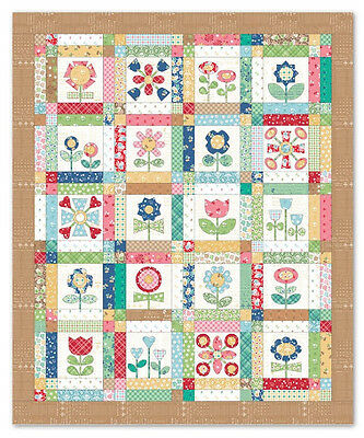 Lori Holt BLOOM Quilt Kit featuring CALICO DAYS . W/shapes.  Hard to find!