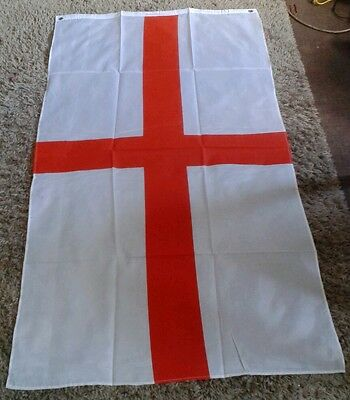 ENGLAND FLAG Large 5FT X 3FT st george cross BRAND NEW & SEALED