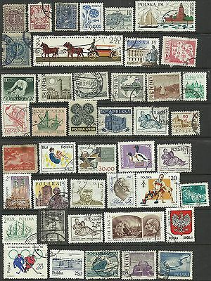 Poland 43 stamps as scan. Lot 1