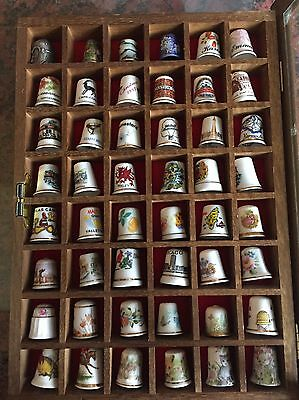 Thimble Collection In Wall Mounted Case