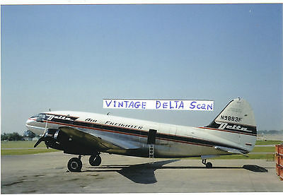 """Delta Air Lines PHOTO Curtis C-46 Prop Freighter  N9883F  (4"""" x 6"""")"""