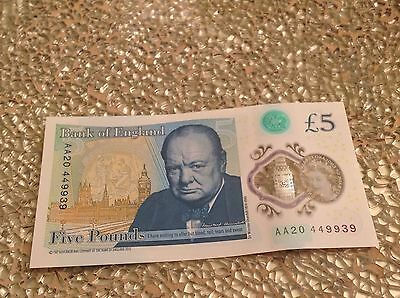 new five pound note AA