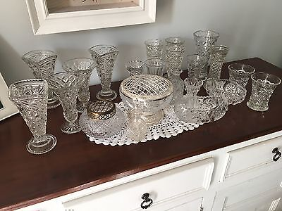 Mixed lot of Vintage Glass Vases
