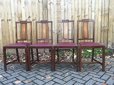4 Art Deco Dining Chairs