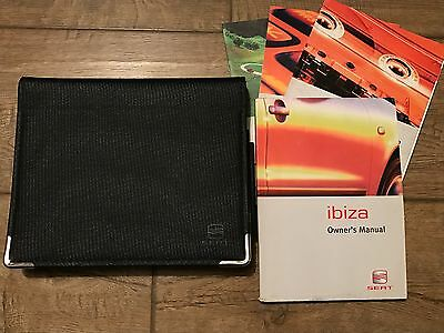 Genuine Seat Ibiza Owners Manual And Wallet 2002-2006 Good Condition