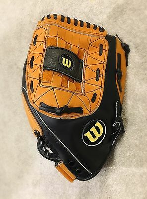 "Wilson Softball Elite 13"" A0350 ES13 Over-Size Pocket Leather Softball Glove RHT"