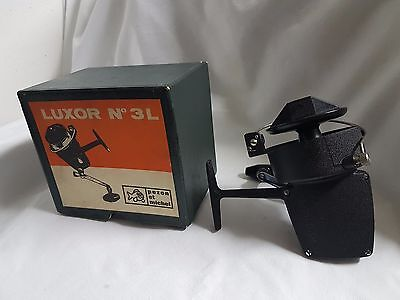 Moulinet Luxor n° 3L + BOX - NEW- made FRANCE REEL MULINELLO ROLLE RARE VINTAGE