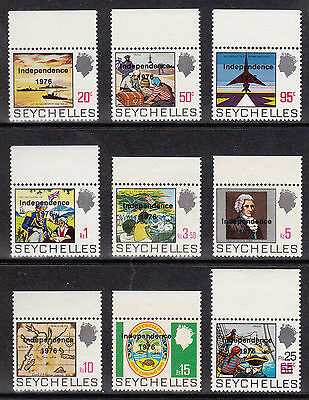 Seychelles - Independence 1976 overprinted optd MH set SG374 to SG382