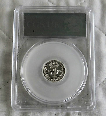 2004 Maundy Silver Proof Four Pence Slabbed Cgs 98