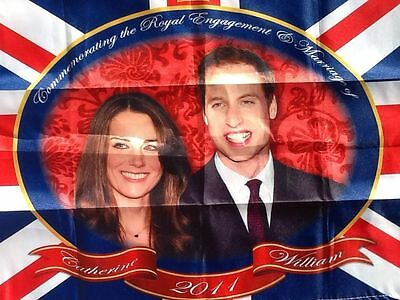 William and Kate Tea Towel Engagement Marriage Wedding Commemorative 2011