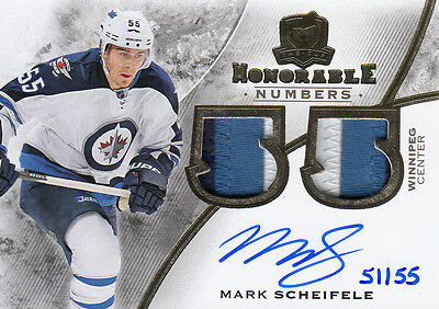 15-16 Upper Deck The Cup Honorable Numbers 51/55 Mark Scheifele Jets