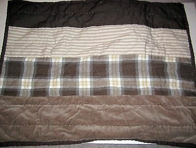 NEW Pottery Barn WHERE WILD THINGS ARE Kids Quilted Plaid Standard Sham