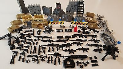 LEGO Custom Made Compatible 120 Pieces Weapons Guns Army SWAT Police Superheroes