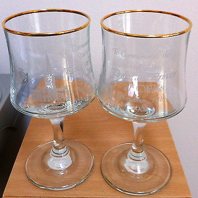 Chesterfield Parish Church Commemorative Glasses Prince & Princess Of Wales