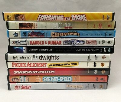 Used 8 Assorted DVDs - Comedy - No Duplicates!