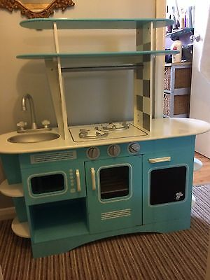 ELC Early Learning Centre Wooden Kitchen Diner Blue