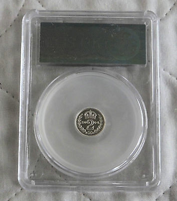 2004 Maundy Silver Proof Two Pence Slabbed Cgs 99