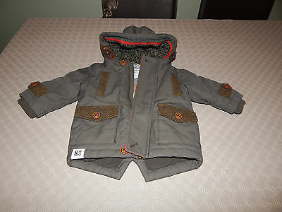 Baby Boys Winter Coat By Next - Size 3/6 Months