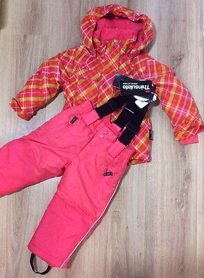Thinsulate Girls 2 Piece Ski Suit Age 6 7 Years Jacket Salopettes Snow Winte