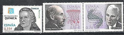 Spain - Stamps showing  Nobel prize WINNERS - three issues MNH