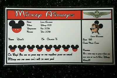 Disney Boarding Passes