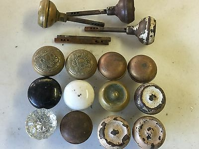 Lot of Vtg Antique Door Knobs Door Handle, Glass, Brass, More