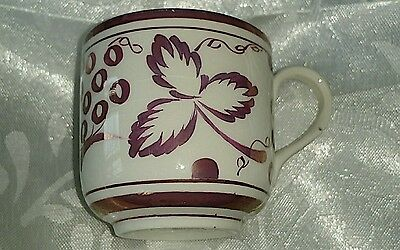 Grays pottery copper lustre coffee cup/can 1933-1950